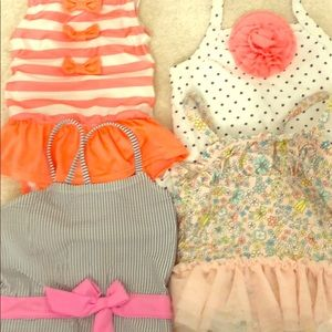 Lot bundle of girls swimsuits bathing suits